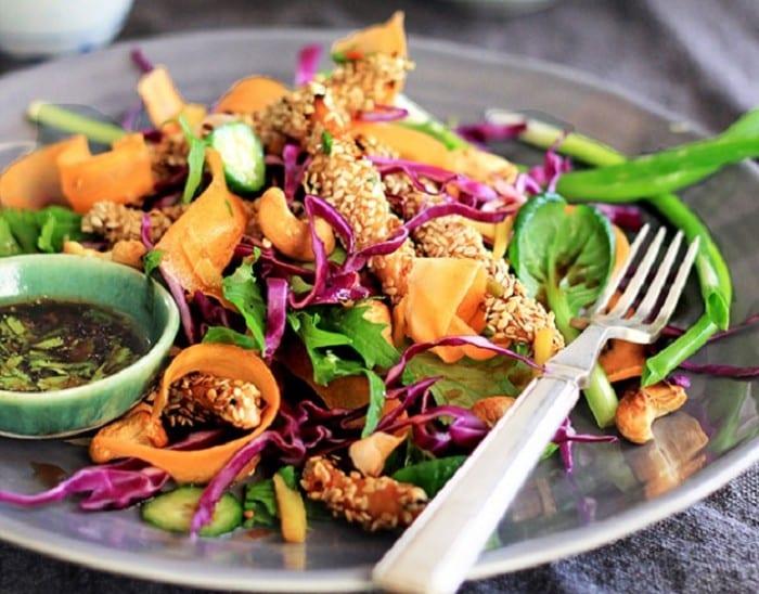 Chicken Salad with an Asian Twist 700x548