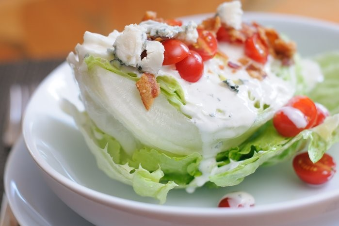 Iceberg Lettuce Wedges with Blue Cheese Dressing