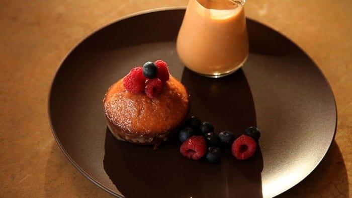 Malva Pudding with Amarula Creme Anglaise on side 700x393