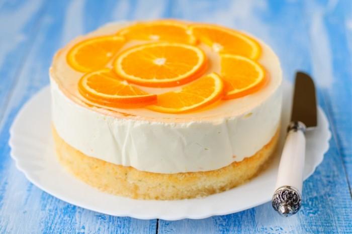 Orange and ginger cheesecake 700x489