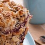 Raspberry and almond bars 700x489