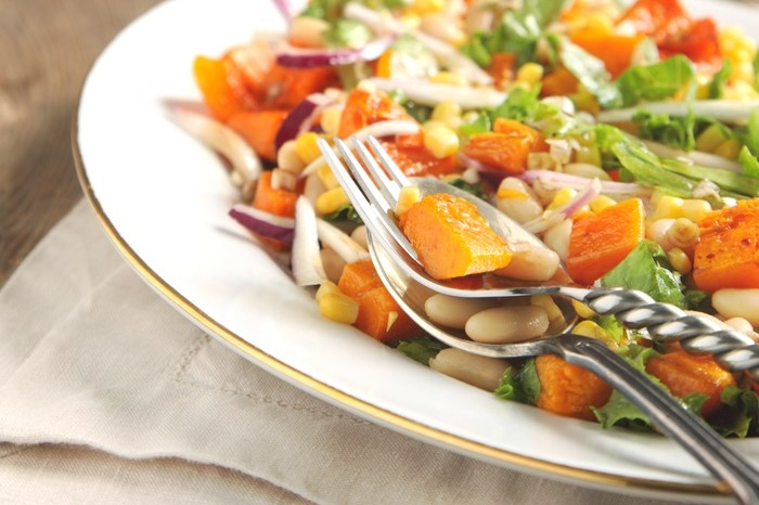 Roast Butternut Cashew and Balsamic Salad