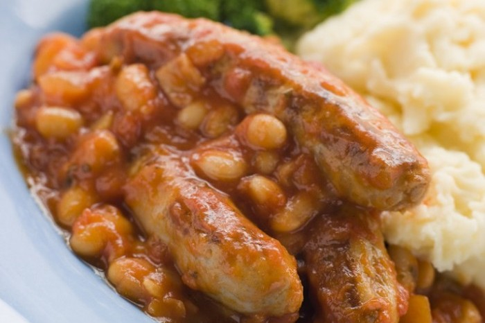 Sausage and Bean Casserole 700x587