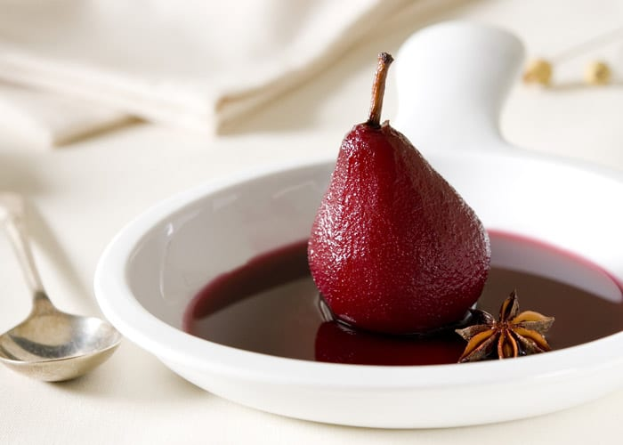 Spiced Red Wine Pears