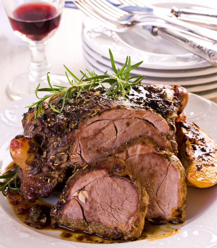 slow roasted lamb with beetroot