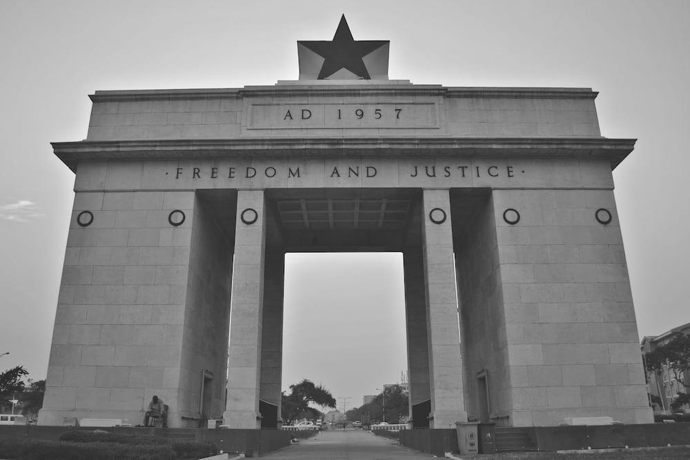 Landmarks in Ghana Black Star Square