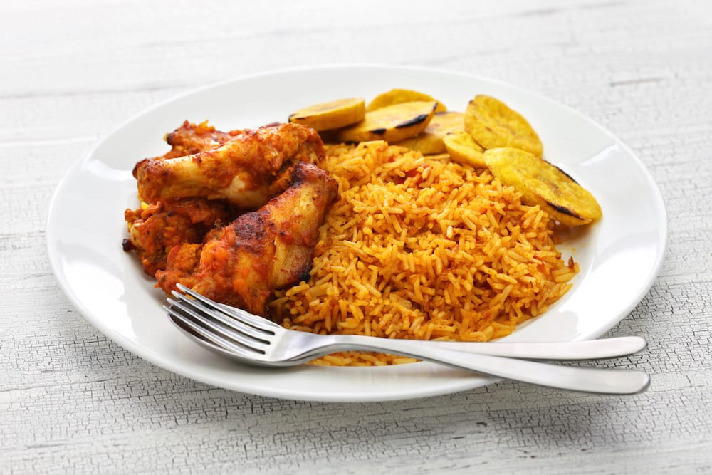 Nigerian Food jollof rice