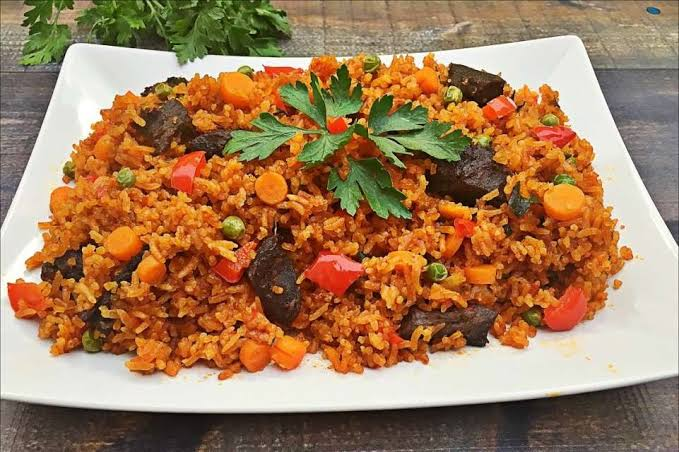 Ghanian jollof rice