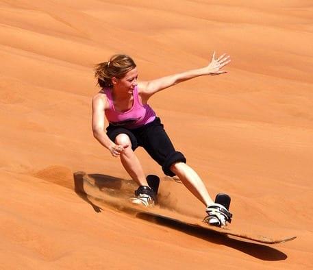 Namibia Travel Guide sandboarding