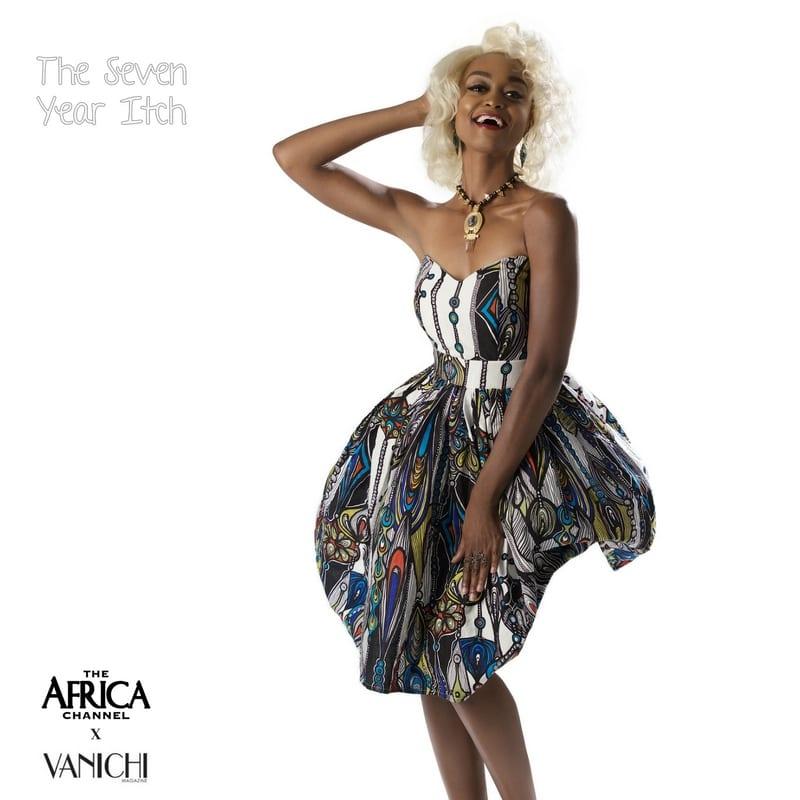 what if movie icons wore african marilyn monroe vanichi