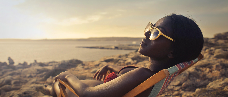 woman beach vacation
