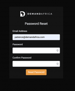 Password Reset Form